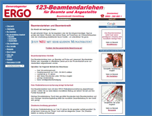 Tablet Preview of 123-beamtendarlehen.de